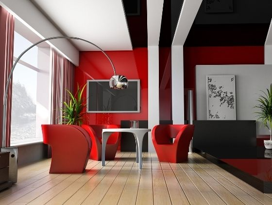 Red IS the color of LOVE, you gotta love this  Interior Design Tampa in Bold Red