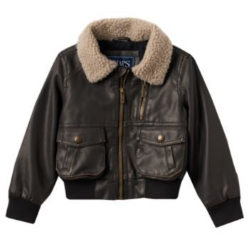 Toddler Boy Chaps Faux-Leather Bomber Jacket