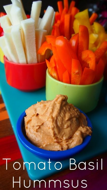 Homemade Flavored Hummus & Veggies