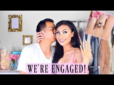 WE'RE ENGAGED + PROPOSAL VIDEO & RING DETAILS!! - YouTube