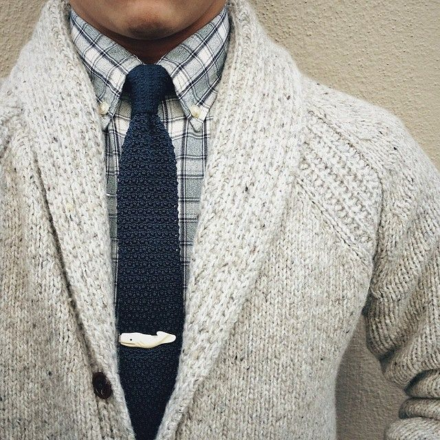 Shawl collar cardigan in place of a blazer? Oh yeah!