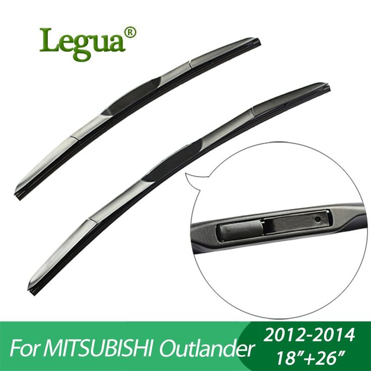 "Promo offer US $12.80  Legua Wiper blades for Mitsubishi Outlander(2012-2014), 18""+26"",car wiper,3 Section Rubber, windscreen wiper, Car accessory"