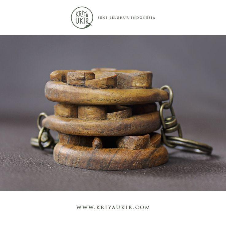 Souvenir Kerajinan Gantungan Kunci Kayu Jati Ukir