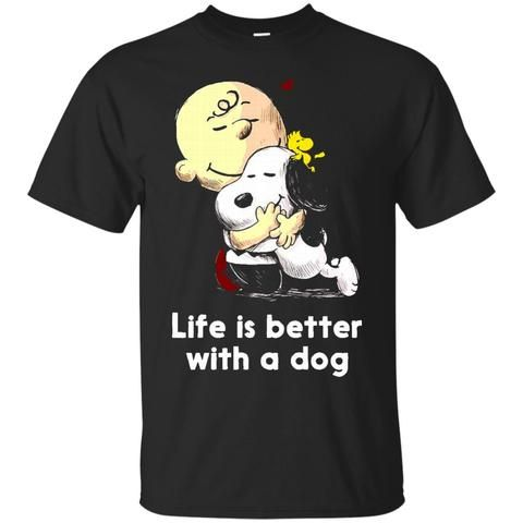 Snoopy T shirts Life Is Better With A Dog Hoodies Sweatshirts