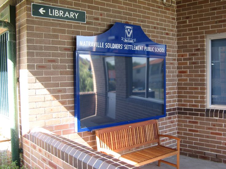 Matraville Soldiers Public  School #noticeboard #clear #glass #public #message #board #CSI #sign #signage #communication