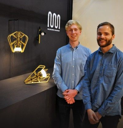 Two industrial design students from Monash Art Design and Architecture (MADA) have exhibited their Exo Light Series at the iconic furniture fair, Salone Internazionale del Mobile di Milano.