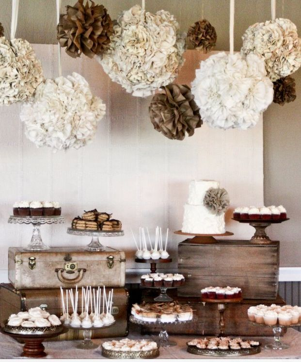 Bohemian dessert table.