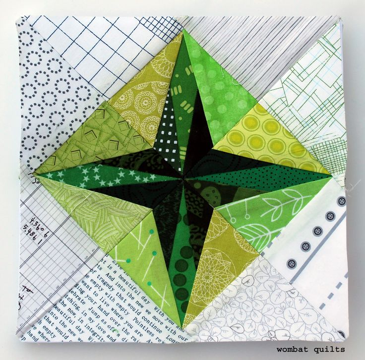 8 Inch Star Quilt Block Paper Piecing Free Paper