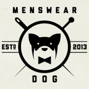 Quirky, dog silhouette with bowtie