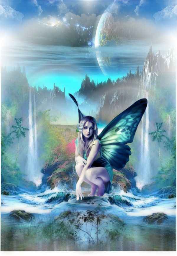 """The Blue Fantasy Fairy"" by dxireddiamond on Polyvore"
