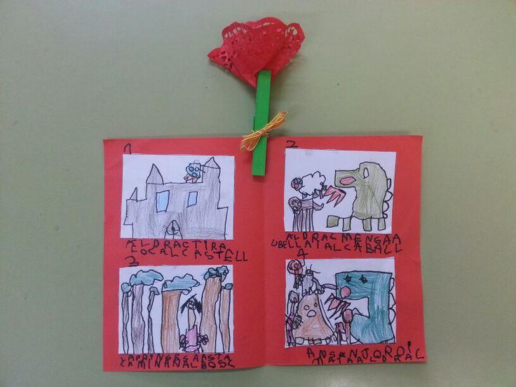 Llegenda Sant Jordi inventada pels nens/es de P5