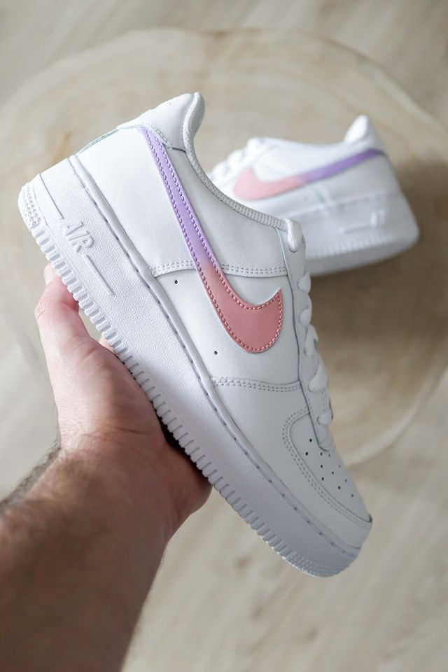 Blue Butterfly Air Force 1 in 2020 | Nike air shoes, Custom