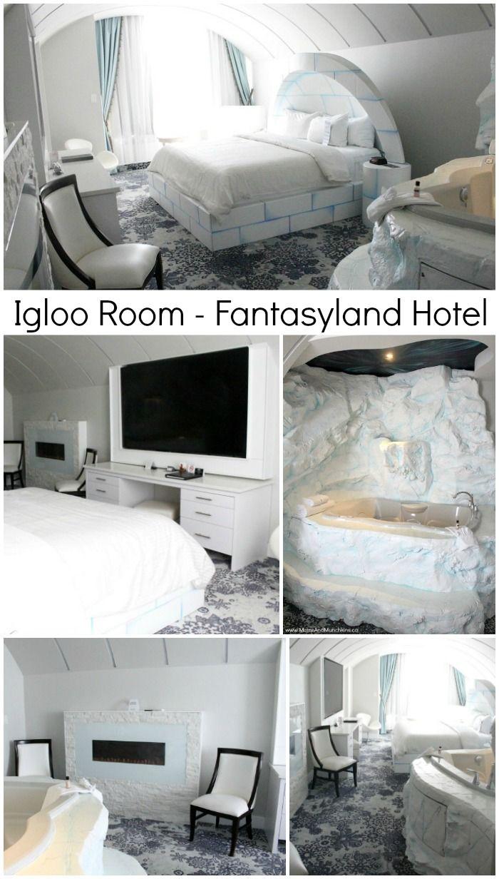 Igloo Room Fantasyland Hotel Edmonton, Alberta - West Edmonton Mall - the ultimate Canadian family vacation destination!