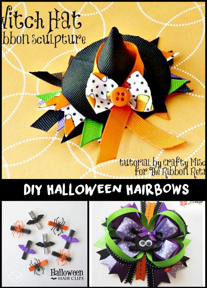 9 DIY Halloween Hair Bows