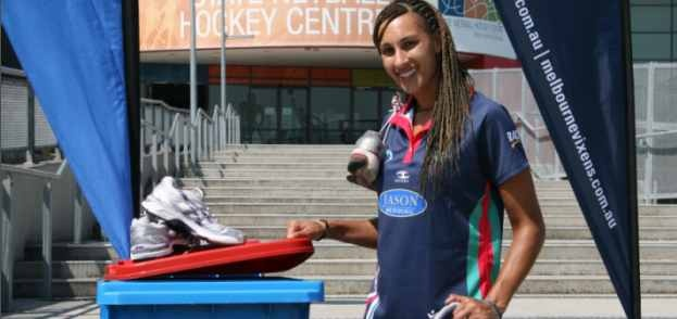 Melbourne Vixen Geva Mentor is throwing the towel in on her old netball shoes and donating them to the Boots For All campaign, and encouraging netball fans to do the same.