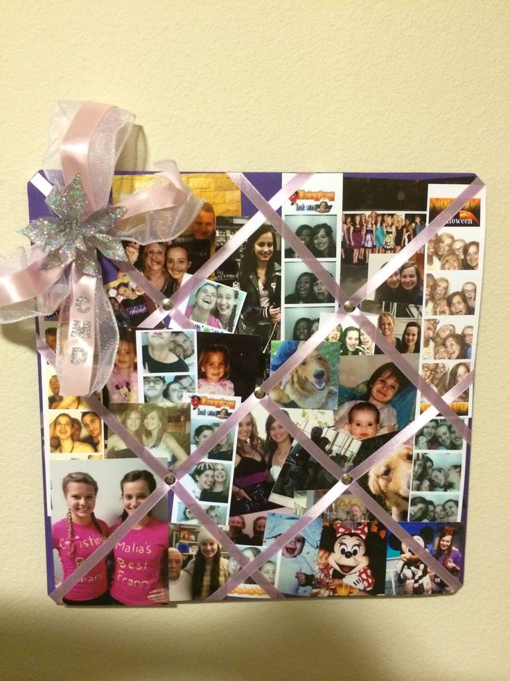 Added some decoration to a plain ribbon bulletin board ~ made the bow and added the flower and my initials.