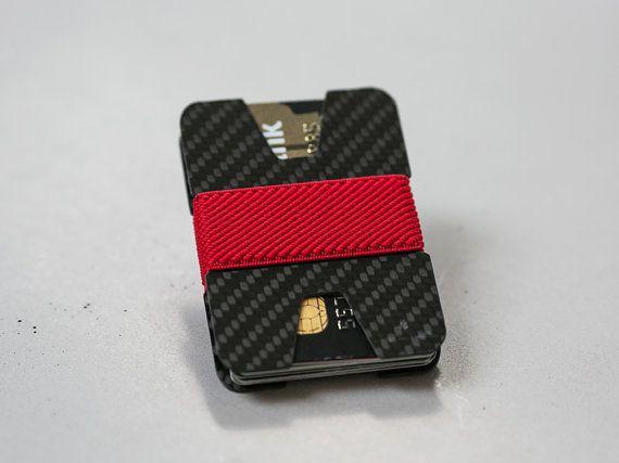 Men wallet credit card holder carbon fiber by ElephantWallet