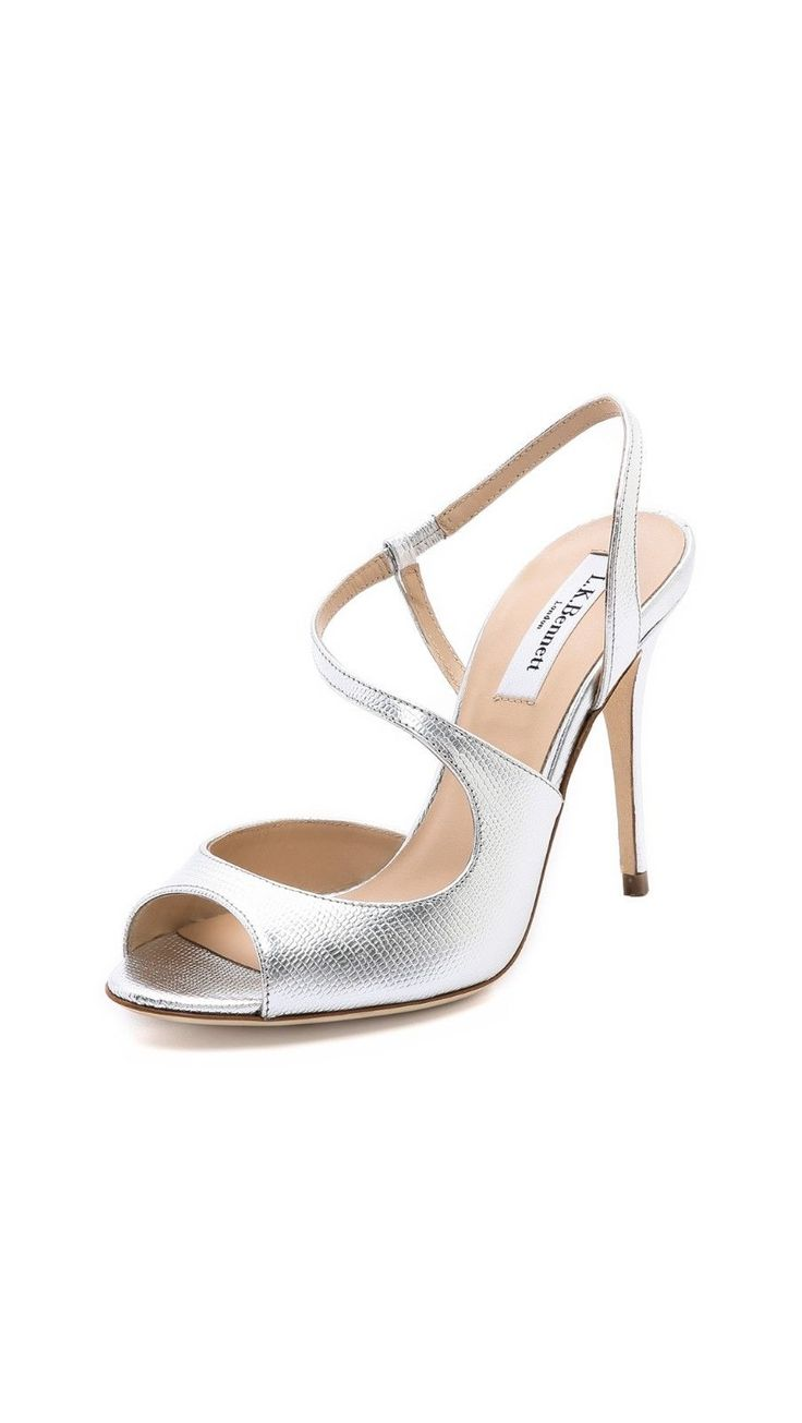 $375 L.K. Bennett Palma Metallic Asymmetrical sandal- NEW IN BOX