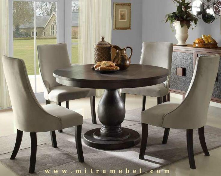 Set Meja Makan Model Bundar merupakan produk furniture mitra mebel jepara yang kami tawarkan kepada anda yang mencari produk furniture set meja makan ataupun meja kopi santai diruang rumah anda yang diproduksi menggunakan bahan bahan berkualitas bagus harga bersahabat.