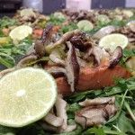 Paleo Diet Meal Service Miami Gourmet Healthy Meals Delivered Miami CrossFit Nutrition Miami Weight Loss Meals delivered Miami  Salmon, Leek & Shiitake on Baby Arugula