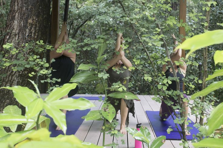 Yoga class in Nosara, surrounded by Playa Guiones Wildlife Refuge