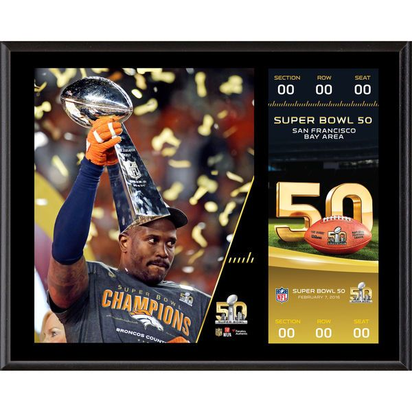 "Von Miller Denver Broncos Fanatics Authentic 12"" x 15"" Super Bowl 50 Champions Sublimated Plaque with Replica Ticket - $39.99"