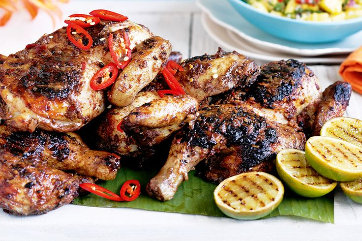 Combining all the colour and powerful flavour of the Caribbean, this barbecued jerk chicken is summer feasting at its best.