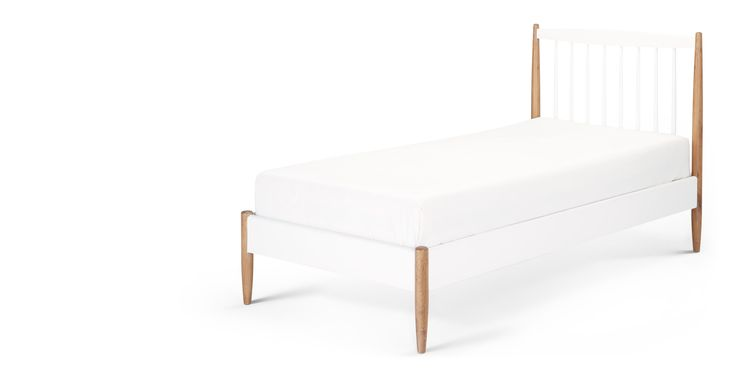 Willow Single Bed, Oak and White