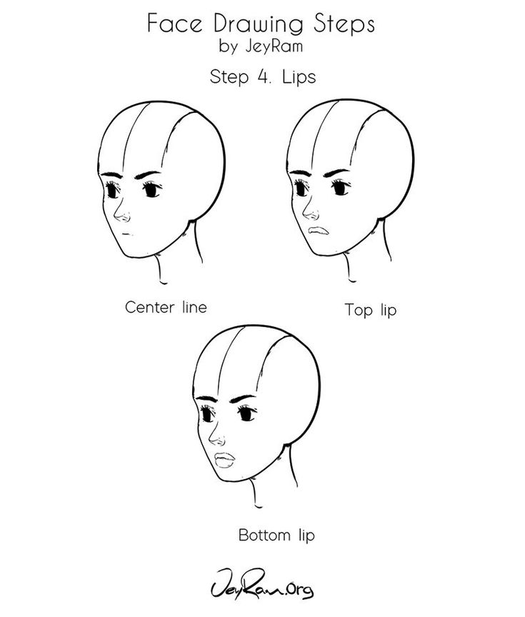 How to draw a female face step by step tutorial for