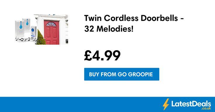 Twin Cordless Doorbells - 32 Melodies!, £4.99 at Go Groopie