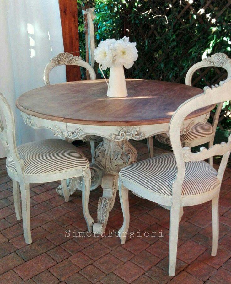 Tavolo e sedie Shabby chic #Shabbychicfurniture   Camere ...