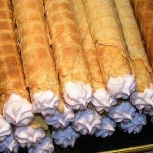 Вафельные трубочки с кремом рецепт – выпечка и десерты. «Афиша-Еда»
