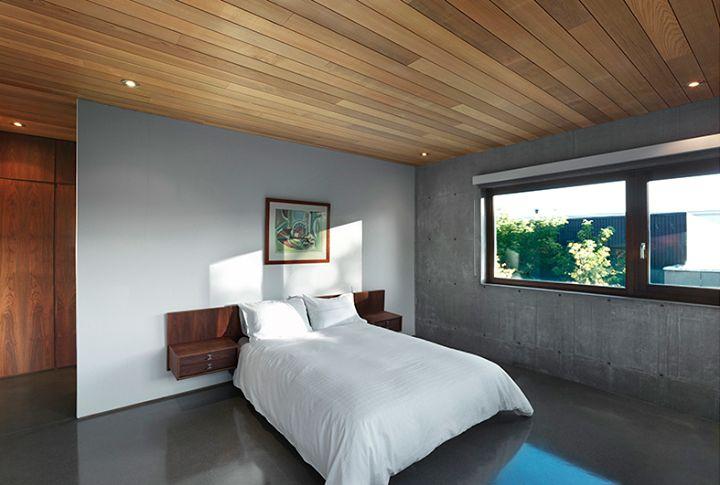 Vue de la chambre / Bedroom view.  Henri Cleinge Architectes - Résidence Beaumont / Beaumont Residence  © Marc Cramer