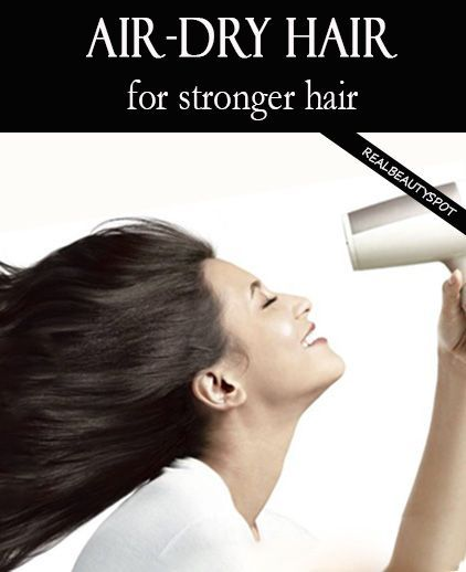 Air Dry for Strong Hair