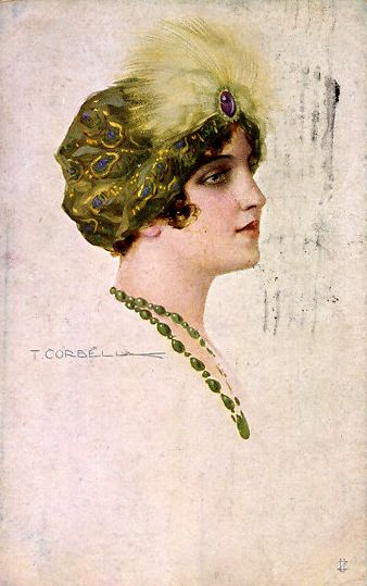 Art Deco Darling - T. Corbella postcard