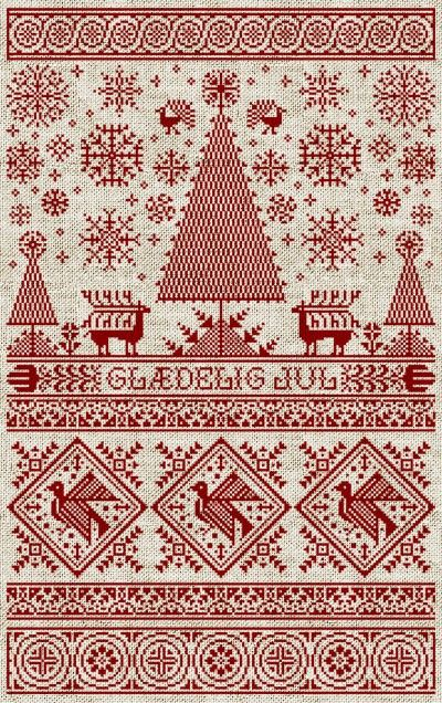 Love this Scandinavian Christmas pattern.