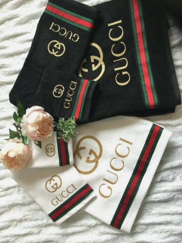 7 Gucci Bathroom Set Collection In 2020 Gucci Bedding Towel Set Glamour Decor