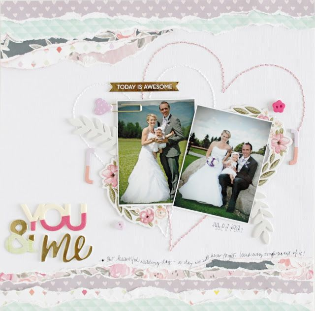 workshop with Paige Evans / you and me / wedding layout