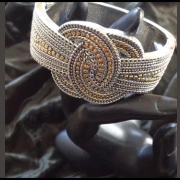 Susan Graver duo tone knot bracelet Susan Graver two tone knot bracelet susan…
