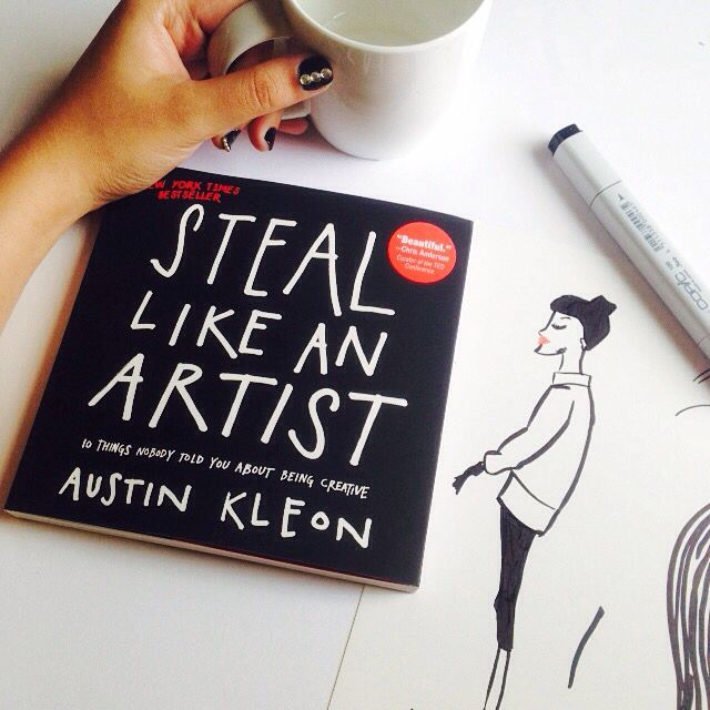 This book really inspired me, and he just tell the truth of art and design #austinkleon