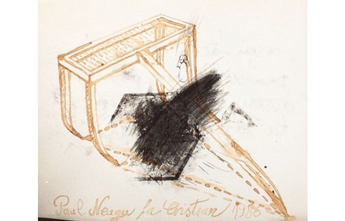 LOT 64 - PAUL NEAGU (& CHRISTIAN PARASCHIV) - Hyphen [1986] - Inkwash on photo paper - 13 × 15.5 cm (5.1 × 6.1 inch) - Estimate €300 - €500 http://lavacow.com/current-auctions/lavacow-christmas-auction/hyphen.html#sthash.ywlHsjoY.dpuf