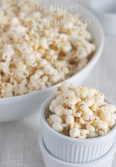 Easier Healthier Caramel Popcorn: This is basically a healthier version of one of my favorite sweet popcorn recipes, Killian Corn. So good! Now that I've found this version, I feel like I can enjoy it more often. In fact, I think I'll whip some up tonight!