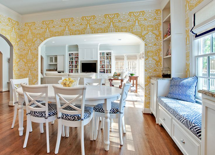 443 Best Dining Rooms Images On Pinterest  Dining Room Dining Glamorous Blue White Dining Room 2018