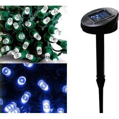 GudCraft Solar Powered Christmas Lights String Light 100 LED Blue by GudCraft. $19.00. Solar-powered decorating lights - no outlet needed! Now decorate anywhere without dangerous extension cords or need for an outlet. Sun charges string of 100 lights by day, turn on automatically at dusk and run for about eight hours! No energy cost! Great near road, around mailbox or lamp post - now you're not limited to near by outlets. 35' length.. Save 46% Off!