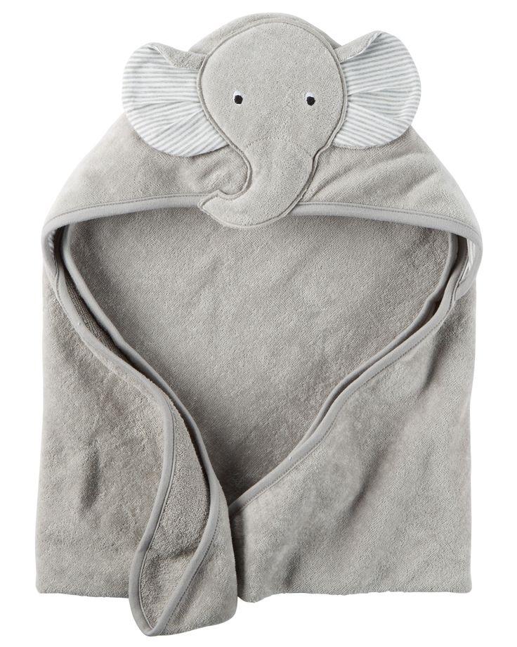 Serviette à capuchon petit éléphant pour bébés garçons | Carter's OshKosh Canada