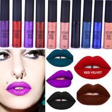 Maquiagem Marca Macio Matte Lip Creme Lip Gloss 12 Cores Lipgloss Veludo Batom Líquido À Prova D' Água Vermelho Fosco Lábios Maquiagem alishoppbrasil