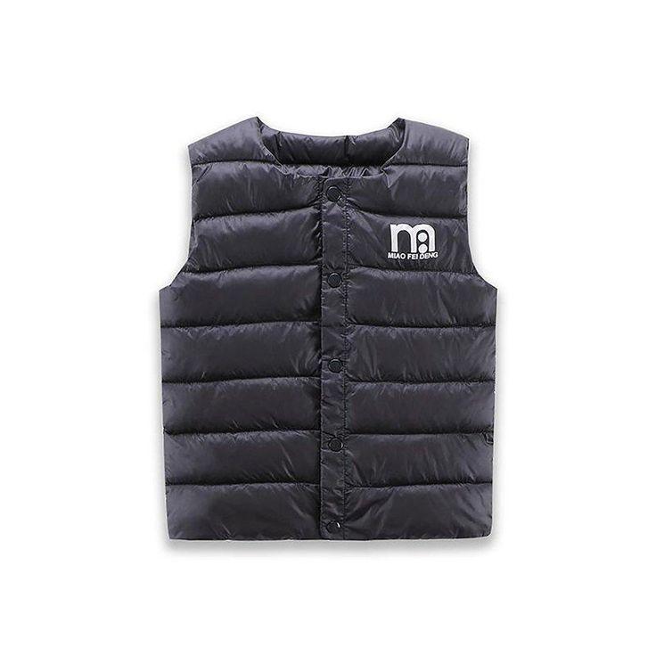 Unisex Kid's 1-6 years <b>Vest</b> Parkas <b>Cotton</b> Warm Solid Outwear ...
