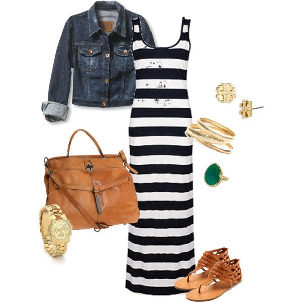 Cute outfit...def need to buy a striped dress for summer