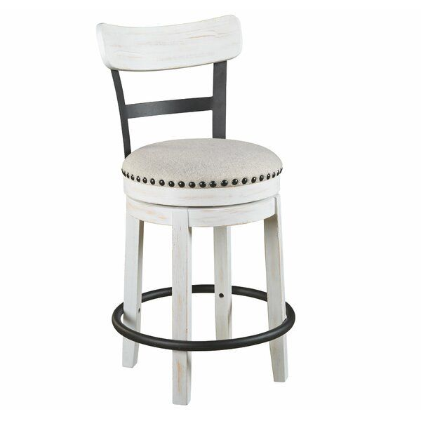 Amador Upholstered Swivel Bar Counter Stool Counter Stools