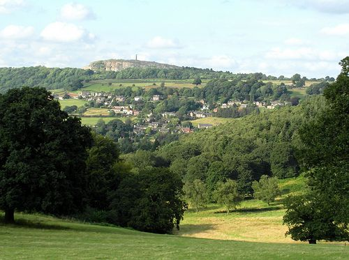 Crich Stand and Whatstandwell from Alderwasley